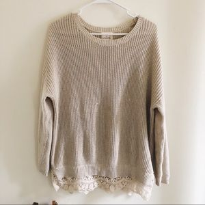 UO Lace Trimmed Sweater